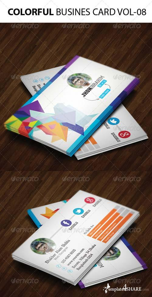 GraphicRiver Colorful Business Card