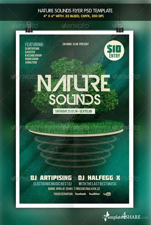 GraphicRiver Nature Sounds | Party Flyer