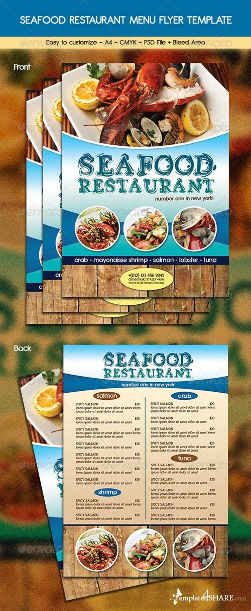 GraphicRiver Seafood Restaurant Menu Flyer