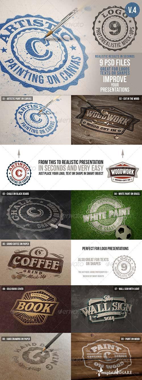 GraphicRiver Photorealistic Logo Mock-Ups Vol.4