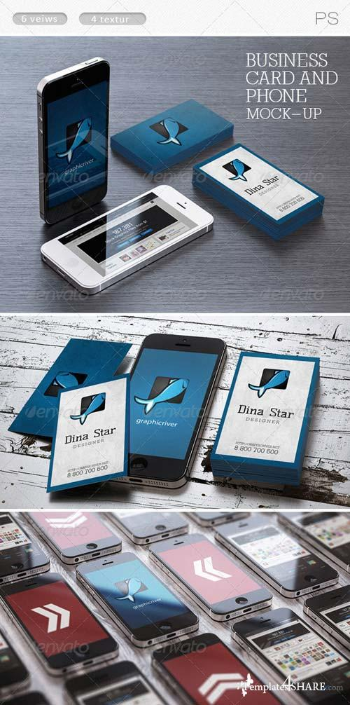 GraphicRiver Business card and phone mock-ups