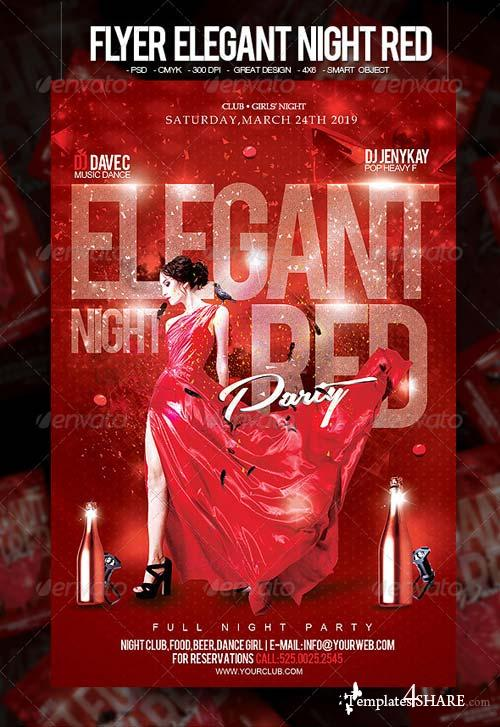 GraphicRiver Flyer Elegant Night Red