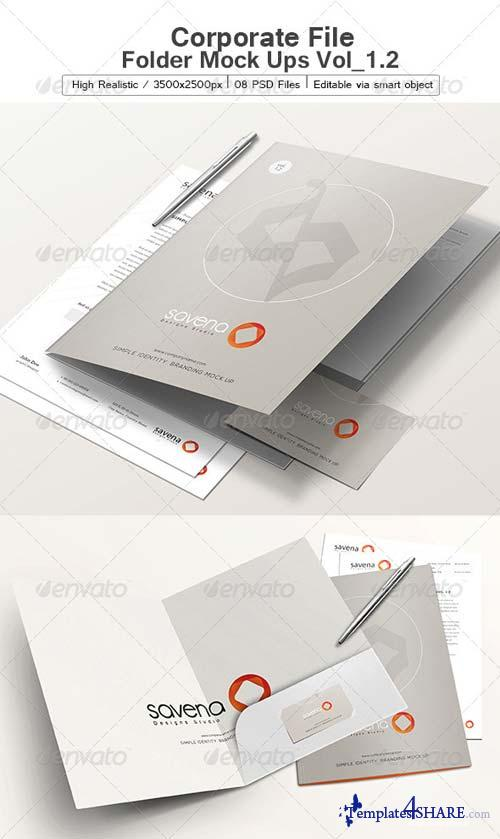 GraphicRiver Corporate File Folder Mock Ups Vol_1.2