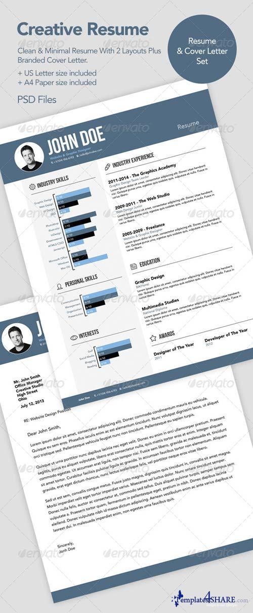 GraphicRiver Creative Resume CV & Cover Letter