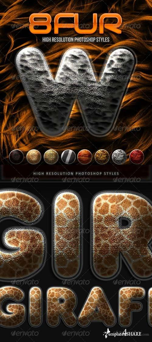 GraphicRiver 8 Fur Photoshop Styles
