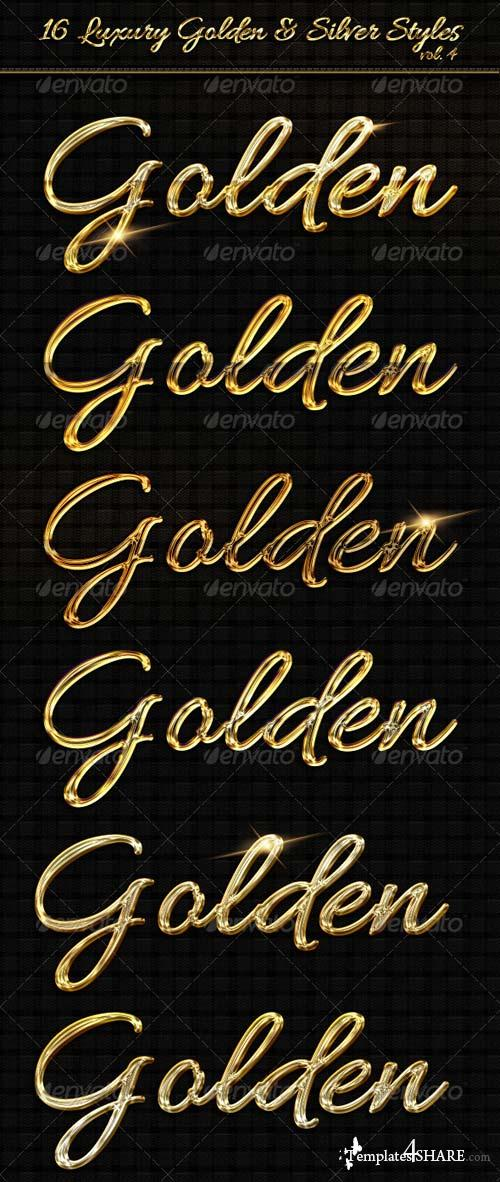 GraphicRiver 16 Luxury Golden & Silver Text Styles vol4