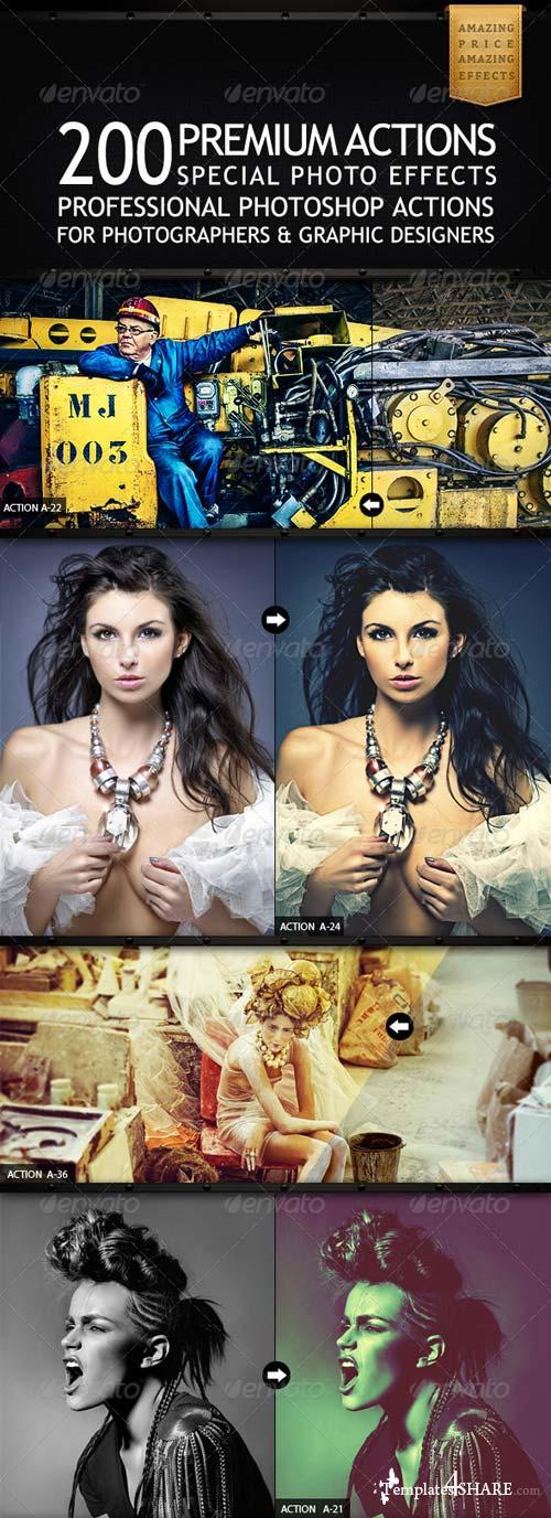 GraphicRiver 200 Premium Actions Bundle