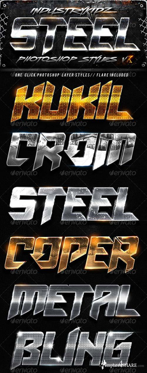 GraphicRiver Metal Photoshop Layers Styles V8