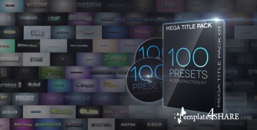 Mega Title Pack 01: 100 in 1 & Construction Kit - After Effects Project (Videohive)