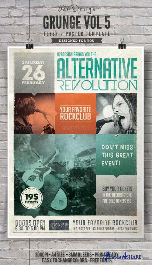 GraphicRiver Grunge Poster / Flyer Vol V