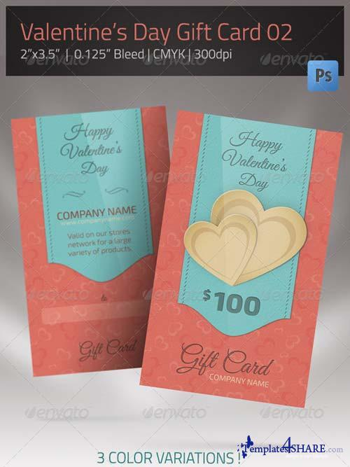 GraphicRiver Gift Card for Valentines Day 02