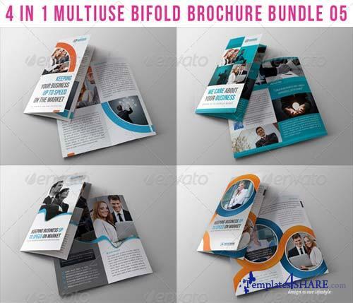 GraphicRiver 4 in 1 Multiuse Bifold Brochure Bundle 05