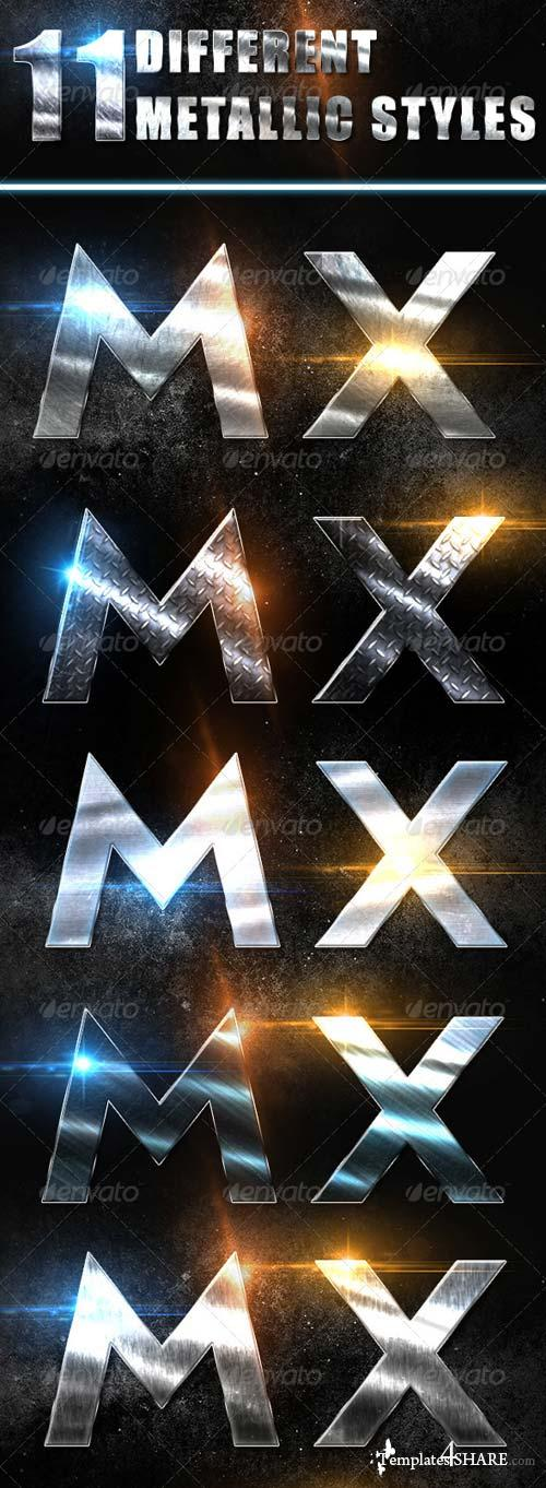 GraphicRiver 11 Metallic Text Styles