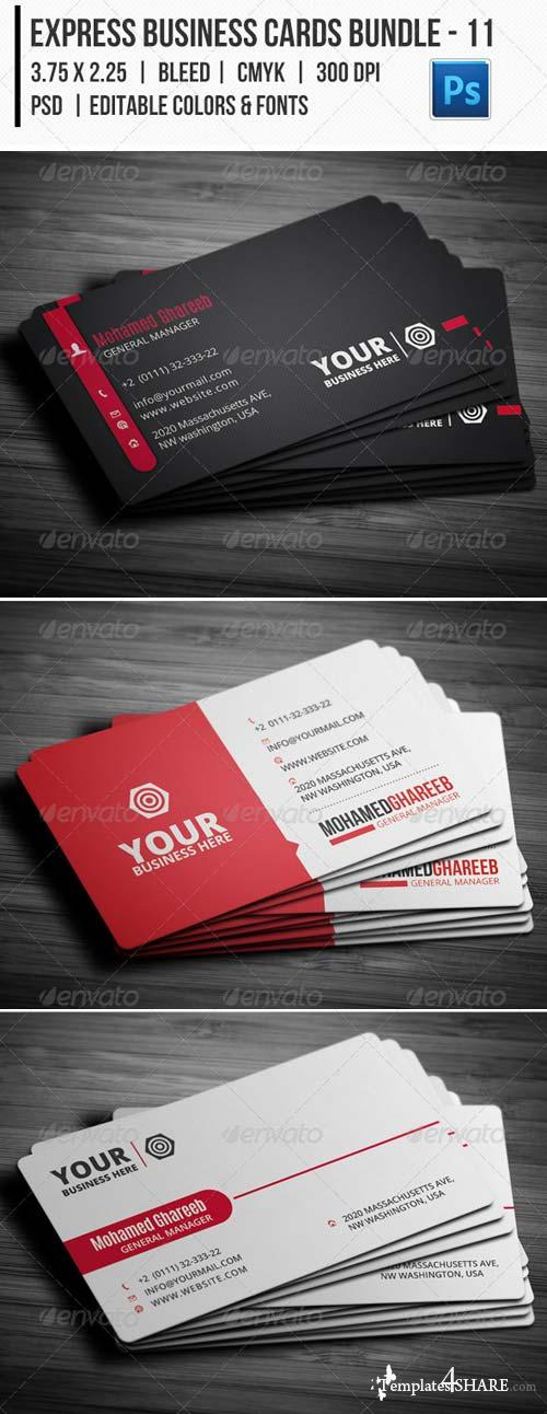GraphicRiver Express Business Cards Bundle - 11
