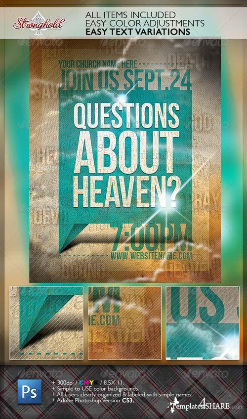 GraphicRiver Question's About Heaven Flyer Template