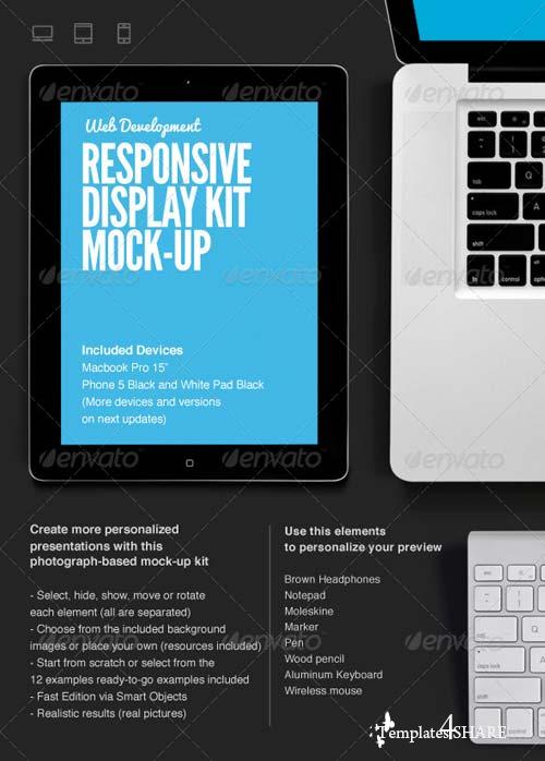 GraphicRiver Responsive Web Display Kit Mock-Up