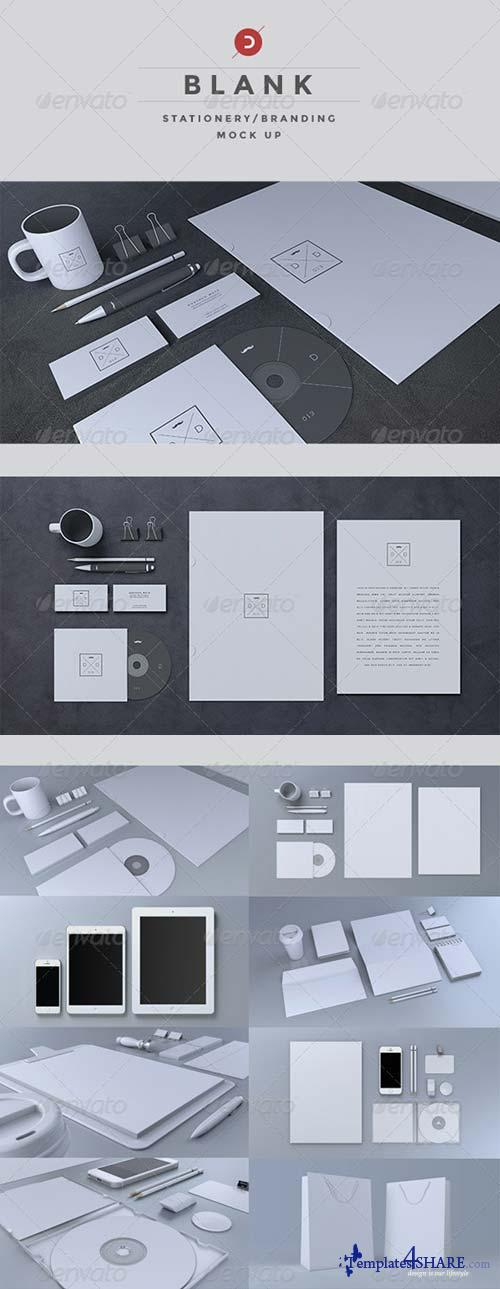 GraphicRiver Blank Stationery / Branding Mock-Up