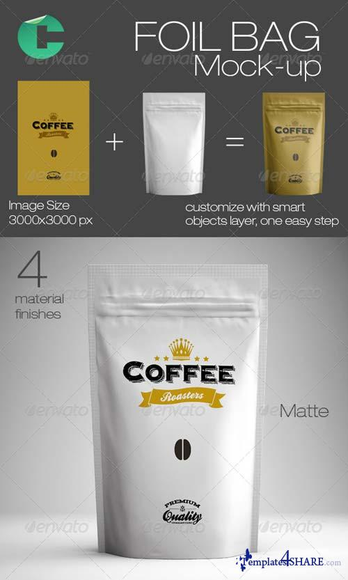 GraphicRiver Foil Bag Mock-up