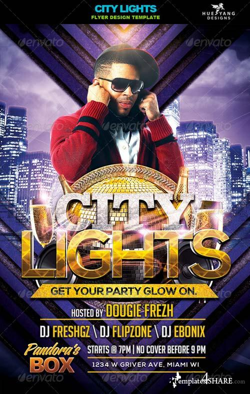 GraphicRiver City Lights Flyer