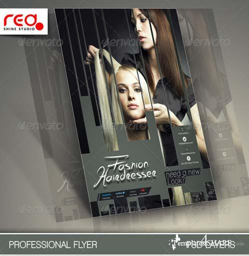 GraphicRiver Hair Salons Flyer Template