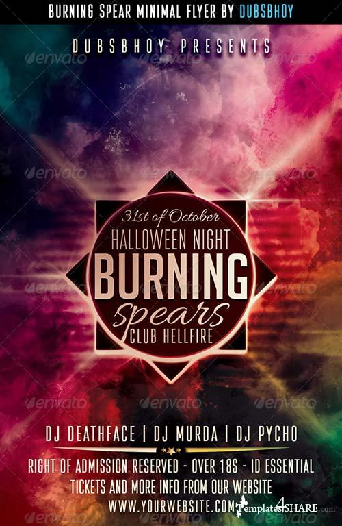 GraphicRiver Burning Spear Minimal Flyer