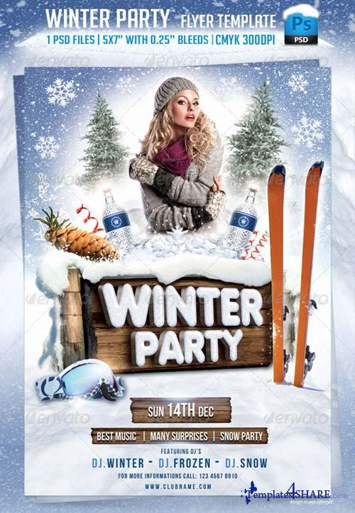 GraphicRiver Winter Party Flyer Template