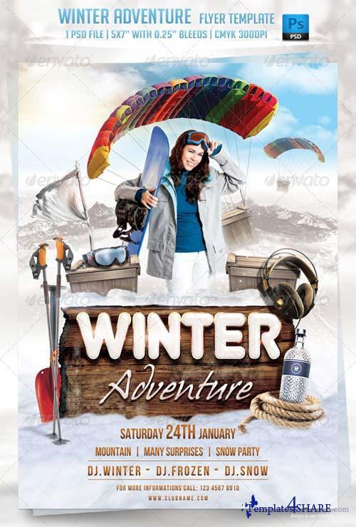 GraphicRiver Winter Adventure Flyer Template