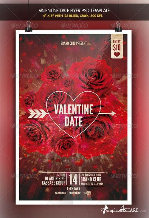 GraphicRiver Valentine Date | Flyer Template