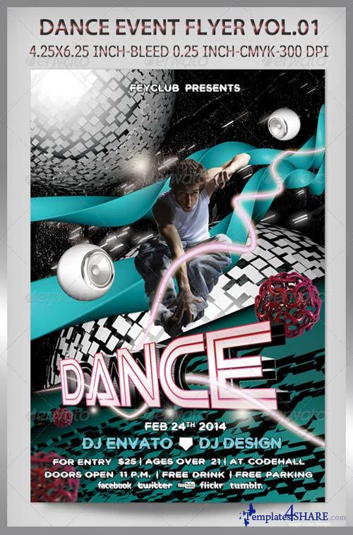 GraphicRiver Dance Event Flyer Vol.01