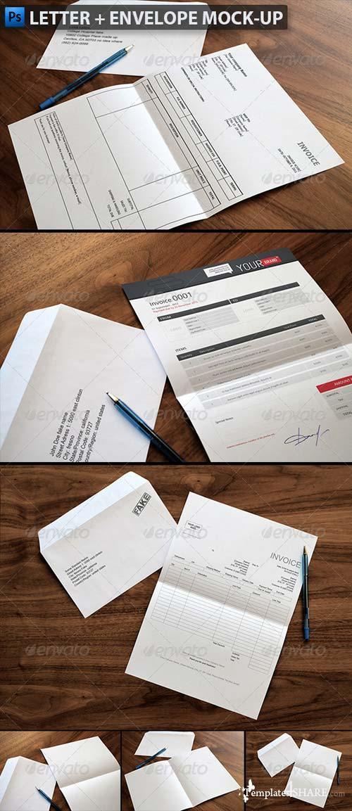 GraphicRiver Letter & Envelope Mock-ups