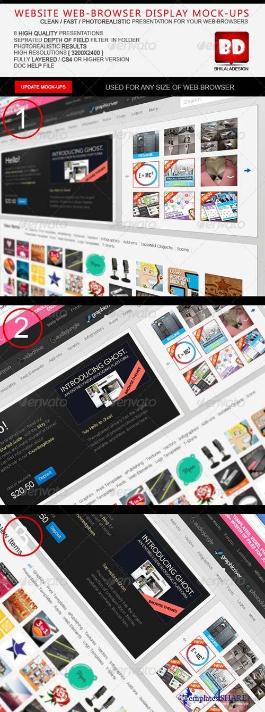 GraphicRiver Website Browser Display Mock-ups