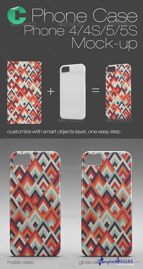 GraphicRiver Phone Case Mock-Up - Phone 4/4S/5/5S