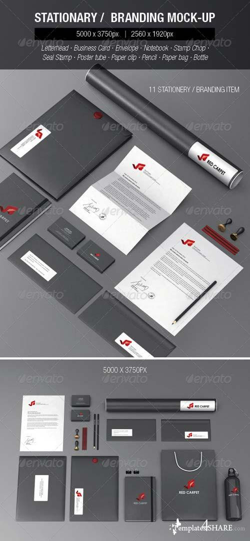 GraphicRiver Stationery Branding Mock-ups Set 2