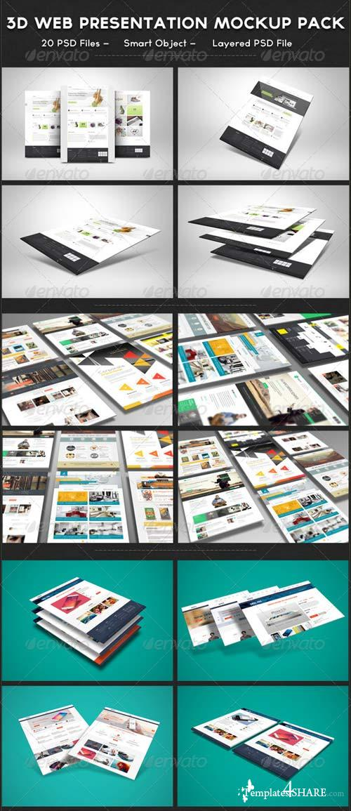 GraphicRiver 3D Web Presentation Mockup Bundle
