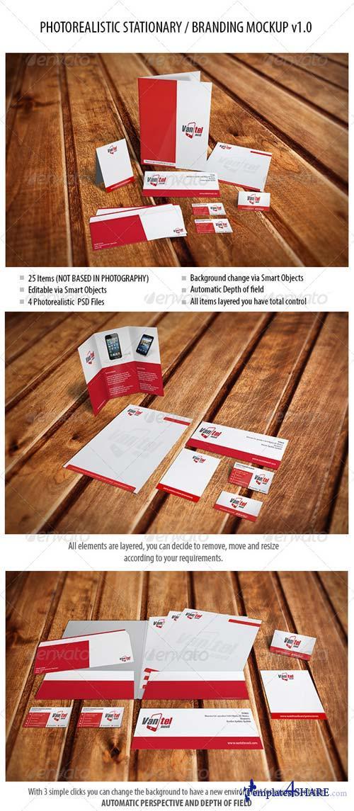 GraphicRiver Stationary / Branding Mockup vol 1.0