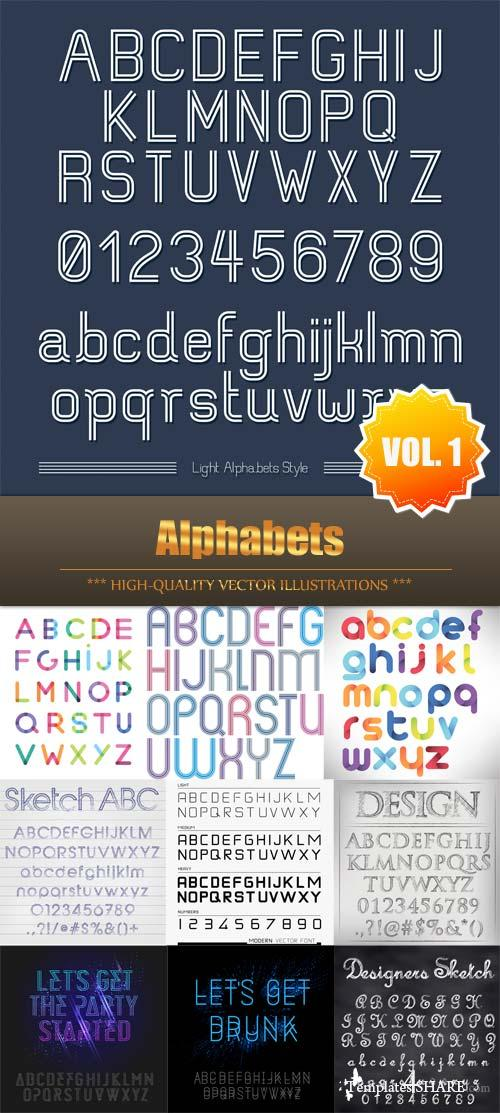 Alphabets Vector Collection (Vol.1)