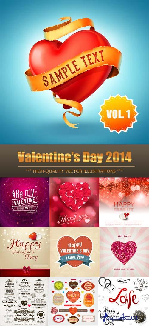 Valentine's Day 2014 Vector Collection (Vol.1)