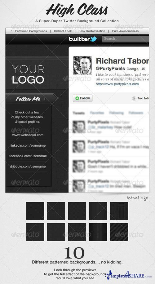 GraphicRiver High Class, Modern Twitter Background Collection