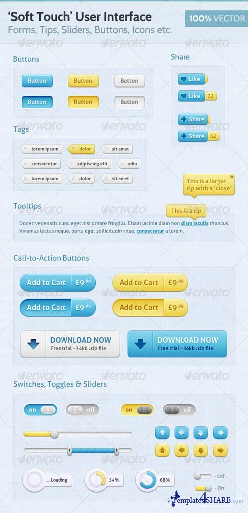 GraphicRiver Soft Touch - Premium User Interface (UI)
