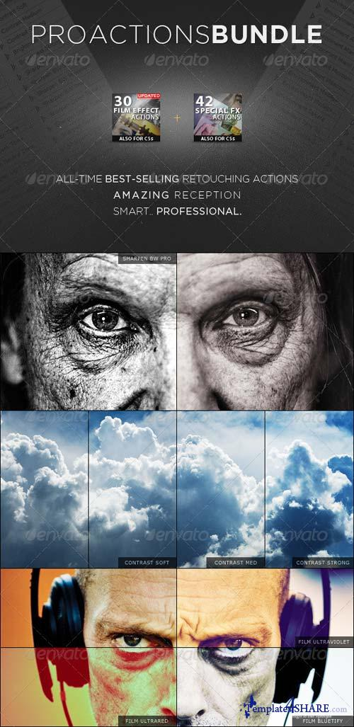 GraphicRiver PROActions Bundle - Film & Special Effects