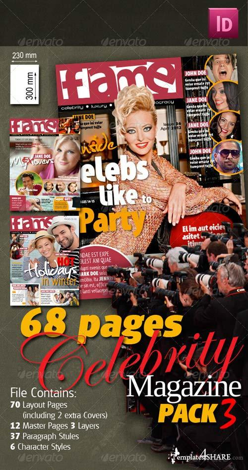 GraphicRiver 68 Pages Celebrity Magazine Pack 3