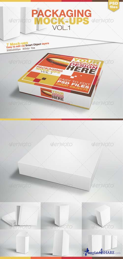 GraphicRiver Packaging Mock-ups Vol.1