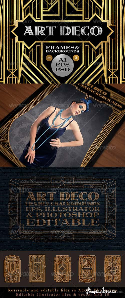 Graphicriver 10 frames vol 2 art deco style free web templates themes - Deco vol ...
