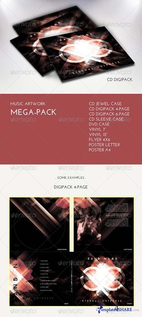 GraphicRiver Music Artwork Mega Pack