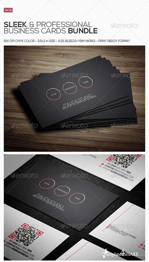 GraphicRiver Sleek Business Cards Bundle Vol. 04