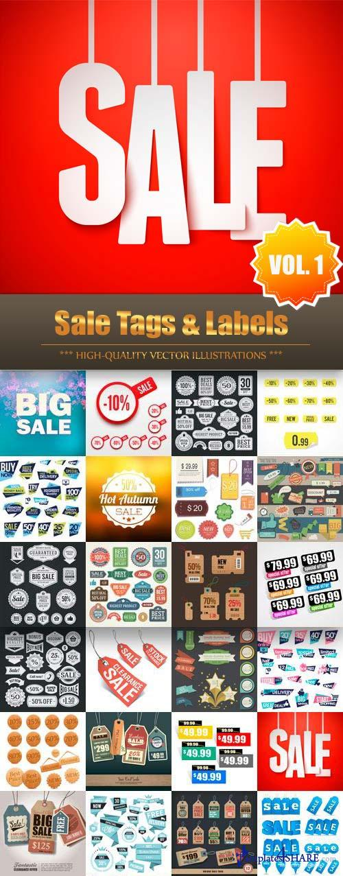 Sale Tags & Labels Vector Collection (Vol.1)