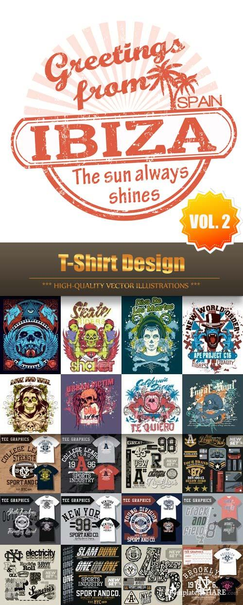 T-Shirt Design Vector Collection (Vol.2)