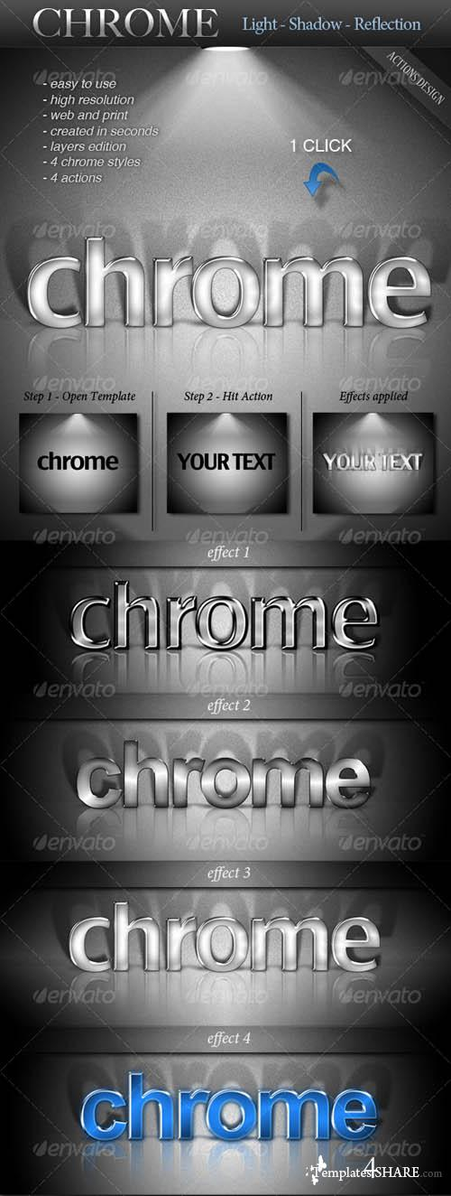GraphicRiver CHROME - Light - Shadow - Reflection