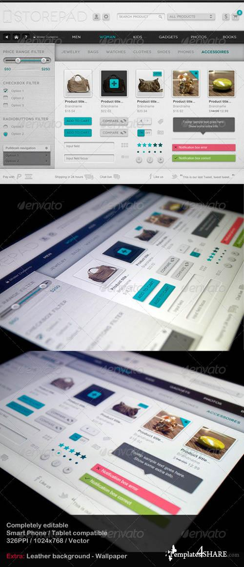 GraphicRiver Storepad Touch Elements - User Interface