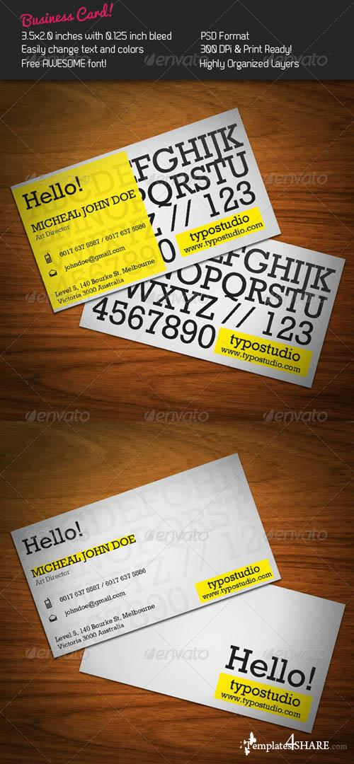 GraphicRiver Alphabet Business Card